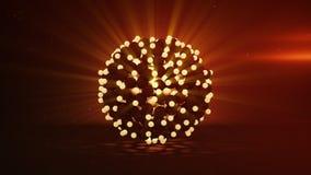 Grupo da rendição de incandescência das esferas 3D ilustração do vetor