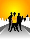 Grupo da rua Imagem de Stock Royalty Free