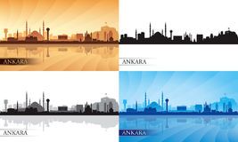 Grupo da silhueta da skyline da cidade de Ancara Foto de Stock