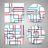 Grupo da tampa do CD do vetor para seu projeto Imagens de Stock
