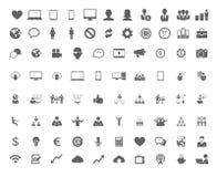 Grupo da tecnologia de ícones lisos Imagens de Stock Royalty Free