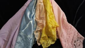 grupo da tela de 5 cores pastel Imagens de Stock
