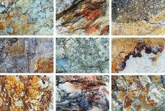Grupo da textura da rocha Foto de Stock