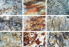Grupo da textura da rocha Fotos de Stock