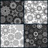 Grupo da textura quatro sem emenda floral ornamentado ilustração royalty free