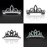 Grupo da tiara isolado Imagens de Stock