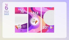 Grupo da venda das histórias de Instagram ilustração royalty free
