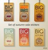 Grupo da venda do outono de etiqueta Imagens de Stock