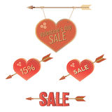 Grupo da venda dos Valentim Fotografia de Stock Royalty Free