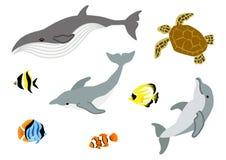 Grupo da vida marinha Fotos de Stock Royalty Free