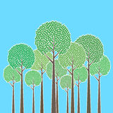 Grupo das árvores ilustração royalty free