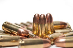 grupo das balas de 9mm Fotos de Stock