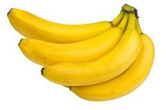 Grupo das bananas em um fundo branco foto de stock royalty free