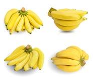 Grupo das bananas isoladas no branco Imagens de Stock Royalty Free