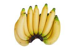 Grupo das bananas isoladas no branco com trajeto de grampeamento Imagens de Stock Royalty Free