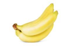 Grupo das bananas isoladas no fundo branco Foto de Stock