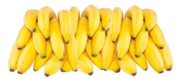 Grupo das bananas isoladas no fundo branco do cartaz Foto de Stock