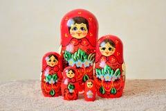 Grupo das bonecas de Matryoshka Imagem de Stock