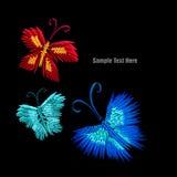 Grupo das borboletas do origâmi Imagem de Stock