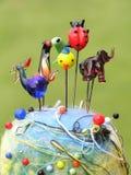 Grupo das cabeças do pino Fotografia de Stock