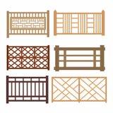 Grupo das cercas de madeira Imagens de Stock