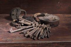 Grupo das chaves com cadeado Foto de Stock Royalty Free
