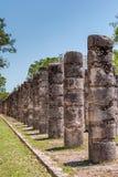 Grupo das 1000 colunas em Chichen Itza, Iucatão, México Foto de Stock