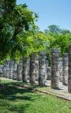 Grupo das 1000 colunas em Chichen Itza, Iucatão, México Imagem de Stock