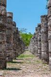 Grupo das 1000 colunas em Chichen Itza, Iucatão, México Fotos de Stock