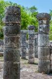 Grupo das 1000 colunas em Chichen Itza, México Foto de Stock Royalty Free