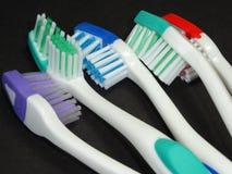 Grupo das escovas de dentes Foto de Stock Royalty Free