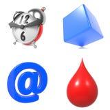Grupo das ilustrações 3d Fotos de Stock Royalty Free