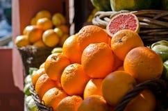Grupo das laranjas foto de stock