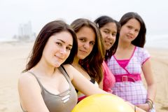 Grupo das meninas Imagens de Stock Royalty Free