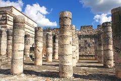 Grupo das mil colunas, Chichen-Itza Fotografia de Stock Royalty Free