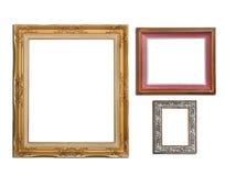 Grupo das molduras para retrato Imagens de Stock Royalty Free