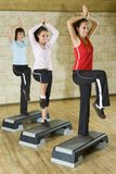 Grupo das mulheres de exercício Fotos de Stock Royalty Free