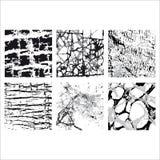 Grupo das texturas 5 Imagens de Stock