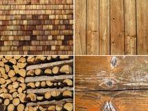 Grupo das texturas de madeira Imagens de Stock