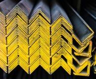 Grupo das tubulações de aço na cremalheira Imagem de Stock