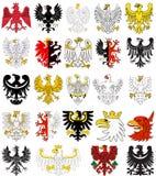 Grupo de águias heráldicas do Polônia Fotografia de Stock Royalty Free
