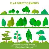 Grupo de árvores diferentes, Fotografia de Stock