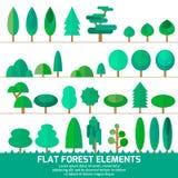 Grupo de árvores diferentes Imagens de Stock Royalty Free