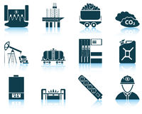 Grupo de ícone da energia Imagens de Stock Royalty Free