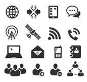 Grupo de ícone de dezesseis comunicações Imagens de Stock