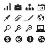 Grupo de ícone de dezesseis escritórios Imagem de Stock
