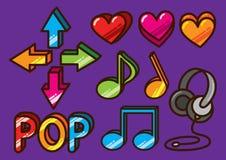 Ícone lustroso da música ilustração royalty free