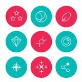 grupo de ícones abstratos para a relação da Web Ilustração do Vetor