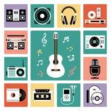 Grupo de ícones audio ilustração royalty free