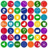Grupo de ícones coloridos, botão do vetor para o projeto de jogo Foto de Stock Royalty Free